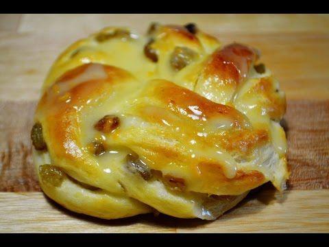 Булочки с Изюмом и Апельсиновой Глазурью | Buns with Raisins - YouTube