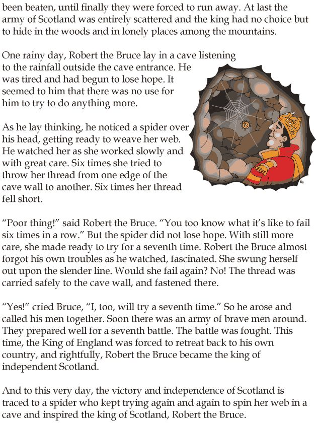 robert bruce and the spider story pdf