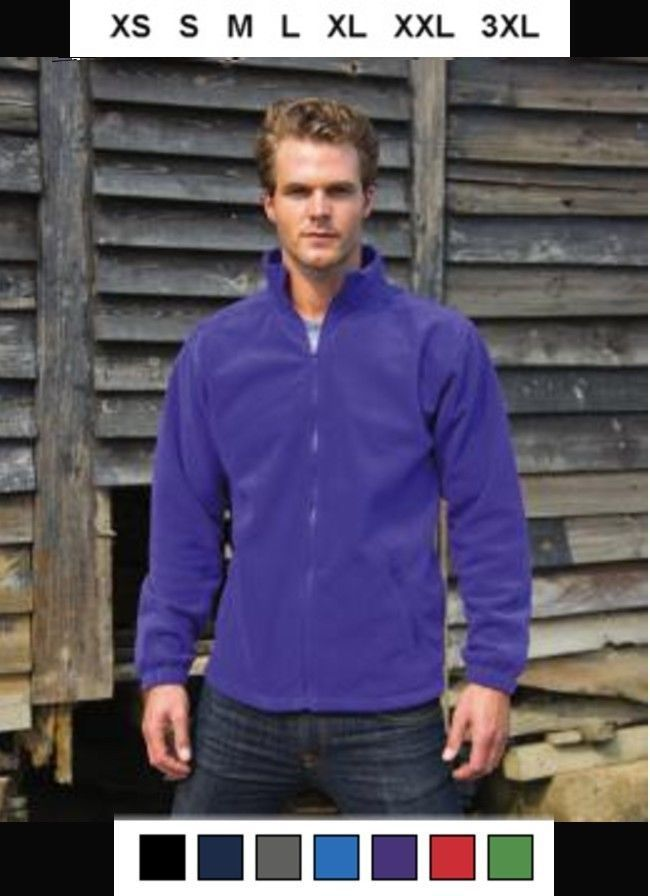 RESULT Giubbino uomo donna in pile di lusso Da XS a 3XL Fashion Fit Outdoor