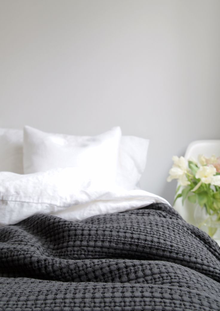 Home is better with U, with Urbanara - charcoal cotton quilt photo by Hege in France
