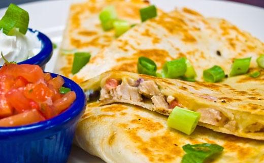 Quesadillas using Epicure Nacho Cheese dip mix