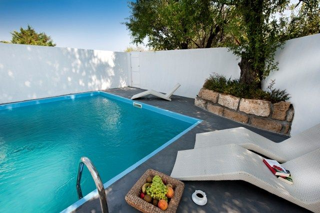 Autumn Special Offers: The brand new suite benefits of its own pool and private patio into 4 star boutique hotel Nefeli in the town of Skyros, Greece http://www.askelena.com/greece/skyros/ne