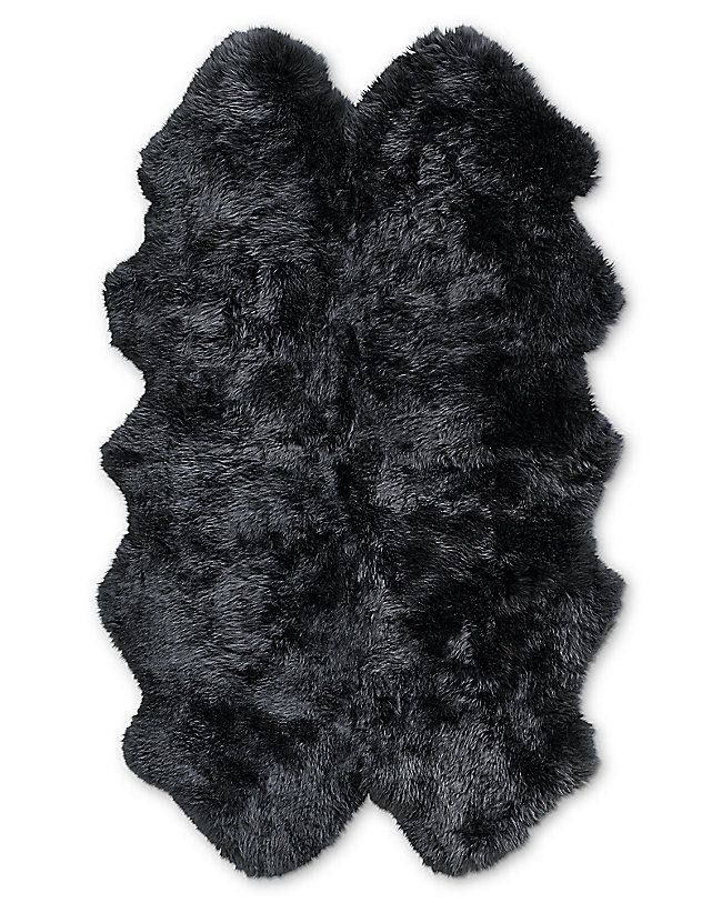 Luxurious Midnight Blue Sheepskin Rug Dark Blue Rug Bedroom Carpet Sheepskin Rug