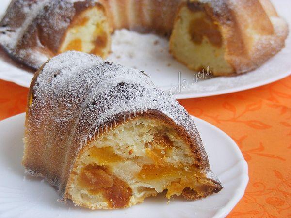 Рецепт пирога с курагой и творогом