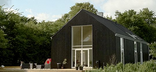 Black wood covered OneRoom 190, Fredericia