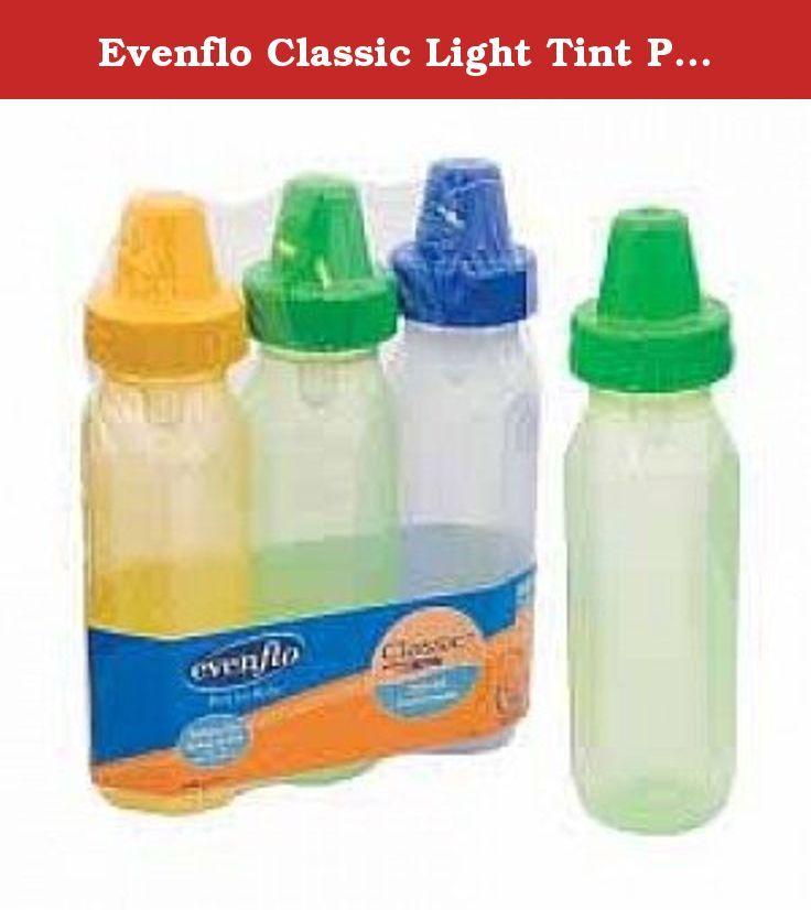 Evenflo Classic Light Tint Plastic Baby Bottles ( BOTTLE, NURSER, PLASTIC, 8OZ, BPA FREE ) 1 Each / Each. Do not let baby take bottle to bed or feed for extended periods of time. Severe tooth decay may result from prolonged contact with liquids containing sugar, such as milk, formula, or juice. Discuss proper bottle feeding with your doctor or dentist. Do not heat in microwave oven. Microwaves heat liquids quickly and unevenly. Burns or scalding may result. Always test temperature of…