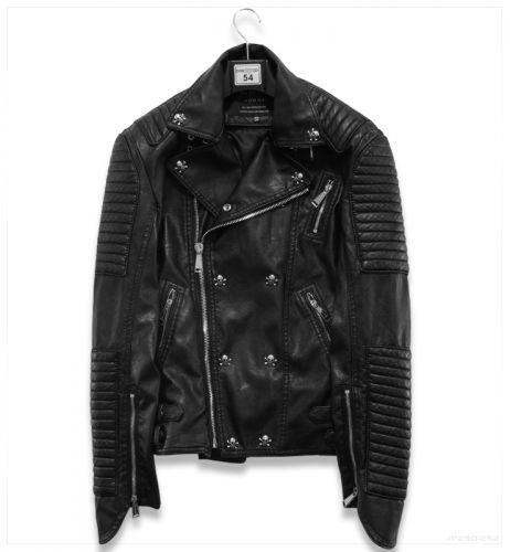 Мужская куртка косуха с черепами 2886 | Верхняя одежда | Мужская одежда | Интернет Магазин Одежды Глазурь