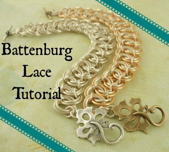 Battenburg Lace Tutorial - Instant Download pdf - Easy Fashion Chainmaille Jewelry - SALE