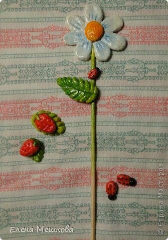 Поделка изделие Лепка Украшения для цветочков Тесто соленое фото 11