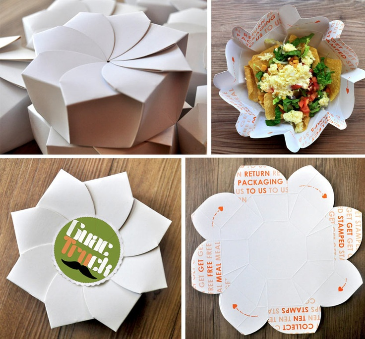 Sustainable Origami Food Box. By Michealle Lee, Philippines.