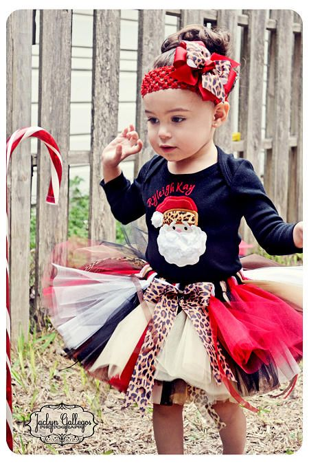 Leopard Print Christmas Tutu Outfit...if I have a girl!