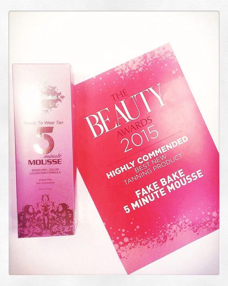 The Beauty Awards 2015 Highly Commended - Best New Tanning Product  5 Minute Mousse