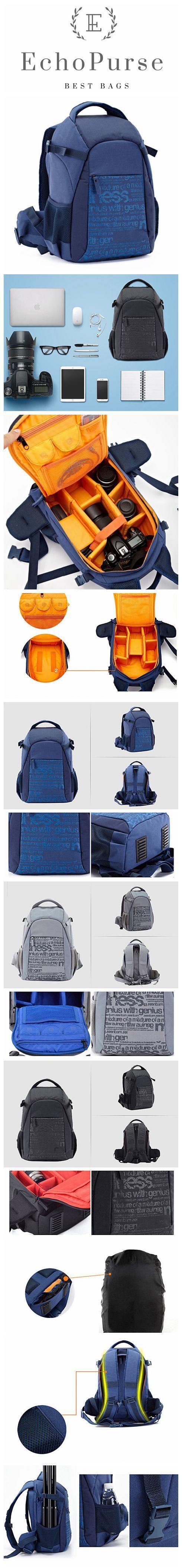 Waterproof Canvas Camera Backpack, Professional DSLR Camera Bag, Travel Backpack S063