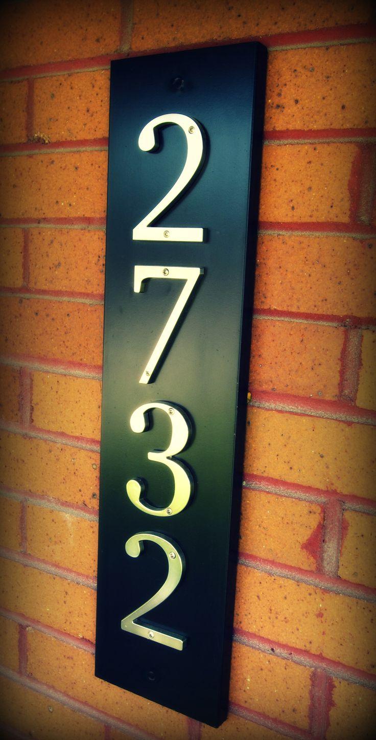 Simple, Elegant DIY House Number Board