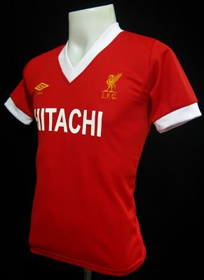 "3in1 Football: Liverpool 1980 ""HITACHI"" Retro Home Shirt"