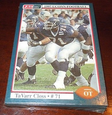 UCONN HUSKIES 1997 FOOTBALL -16 SEALED TEAM TRADING CARDS Card (v1) COLLEGE RARE please retweet