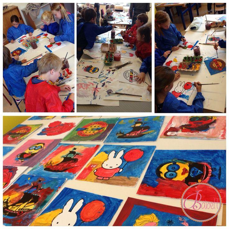 Lekker creatief met zelfgemaakte canvas doekjes! www.babett.nl