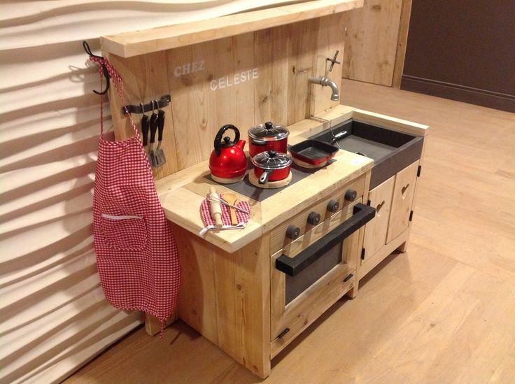 mijn eerste keukentje in gebruikt steigerhout - kinderspeelgoed en decoratie kinderen  - WONEN