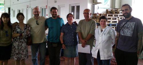 Ayer jueves, Leticia García Panal visitó el puerto de Motril para interesarse por la actividad pesquera