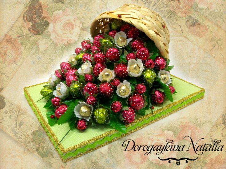 Gallery.ru / Оформление вина - Композиции из конфет - norgis