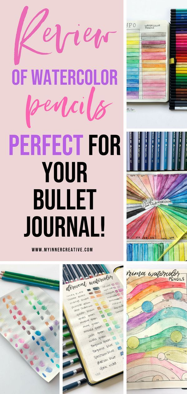 Best Watercolor Pencils To Use In Your Bullet Journal Bullet