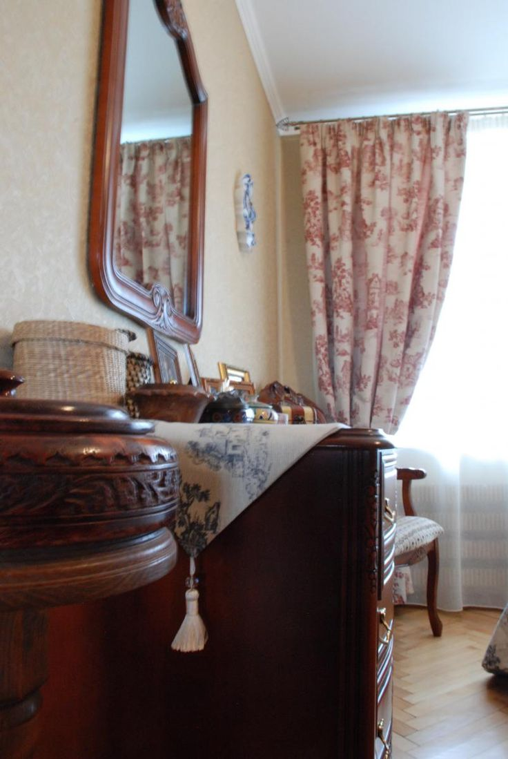 Аксессуары для спальни, занавески из ткани туаль де жуи