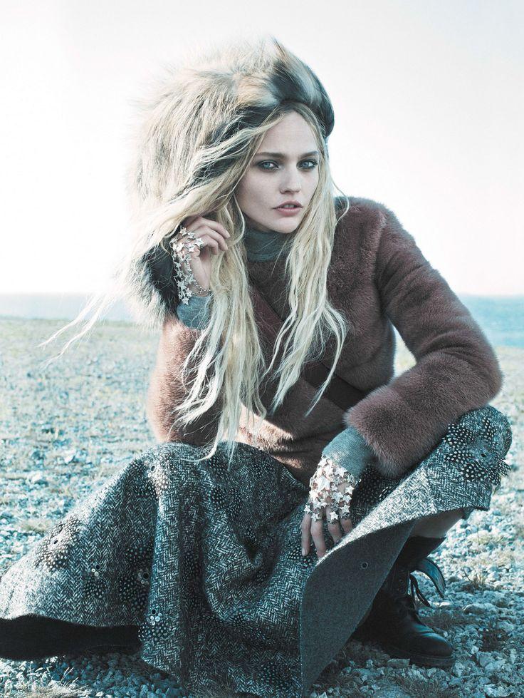Favorite Fashion Editorials: sasha pivovarova by miakel jansson for vogue us september 2014