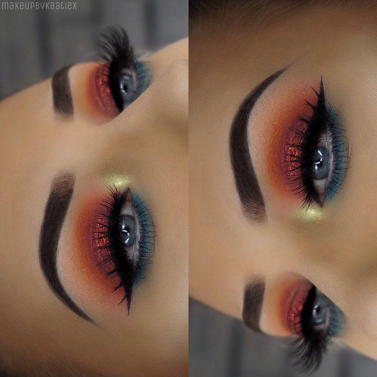 Bright eyes using @morphebrushes 35b palette - Instagram makeupbykaatiex