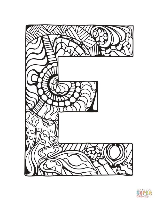 27 Best Image Of Letter E Coloring Page Coloring Letters