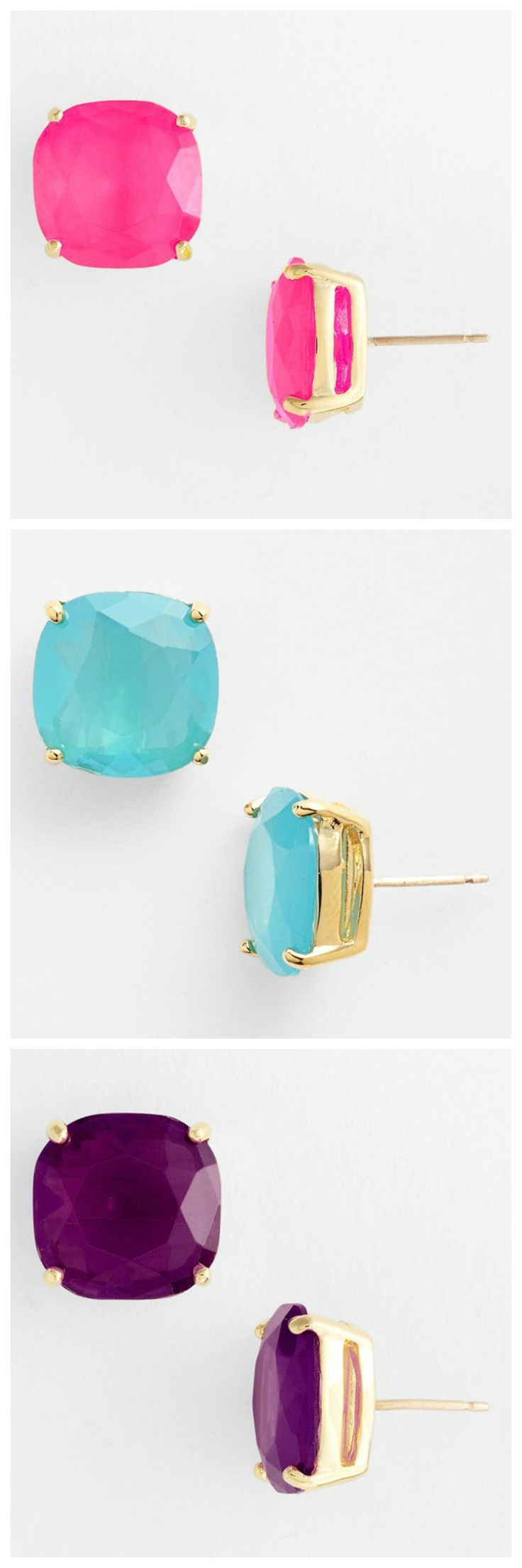 These colorful Kate Spade earrings make it easy to accessorize.