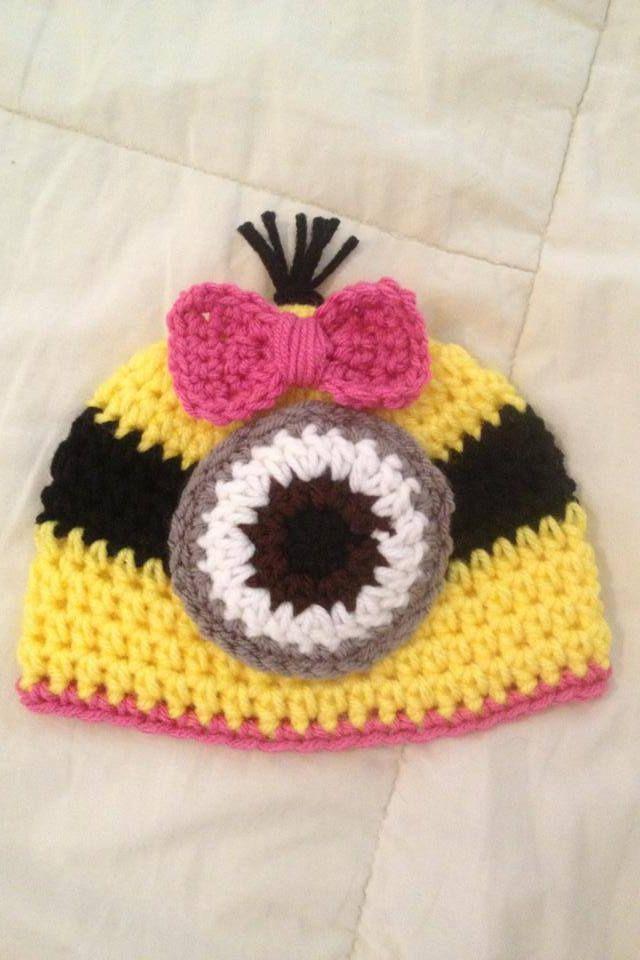 329 best Crochet - Hats - Minions images on Pinterest | Crochet hats ...
