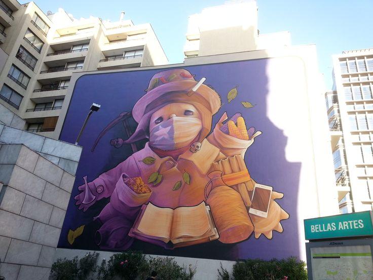 muralista INTI, bellas artes 2014.