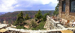 The Grand Canyon Lodge is a hotel and cabins complex at Bright Angel Point on the North Rim of the Grand Canyon.Bright Angel Point, North Rim, Grand Canyon National Park, Arizona, USA