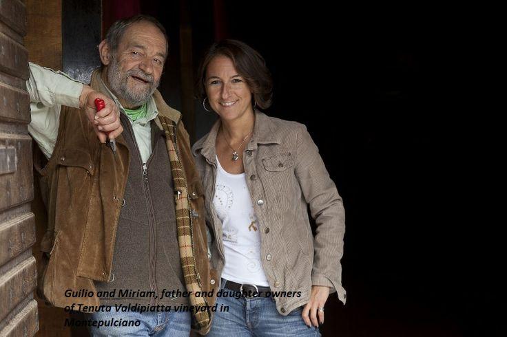 Giulio and daughter Miriam from #Valdipiatta winery in Montepulciano