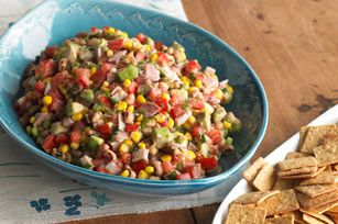 Cowboy salsa - add cheese and use as a filling for quesadillas.  Serve with avocado ranch dip - YUM!
