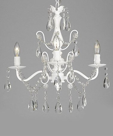 Look what I found on #zulily! Gallery 15'' Wrought Iron & Crystal Chandelier by Gallery #zulilyfinds