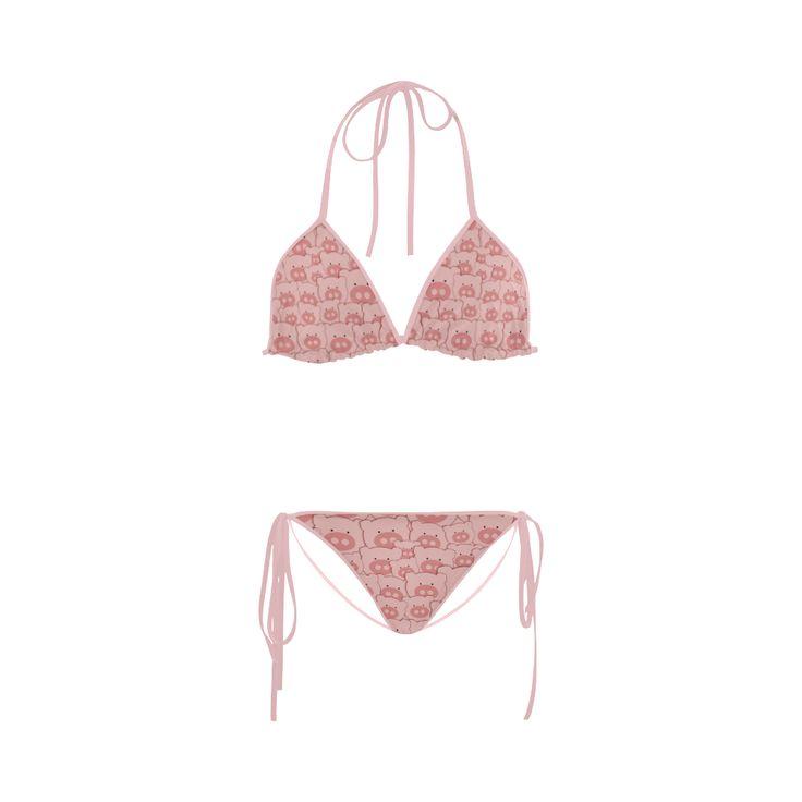 Pink Piggy Pigs Custom Bikini Swimsuit