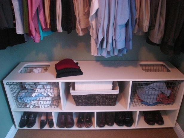 Wardrobe storage - I like laundry bins