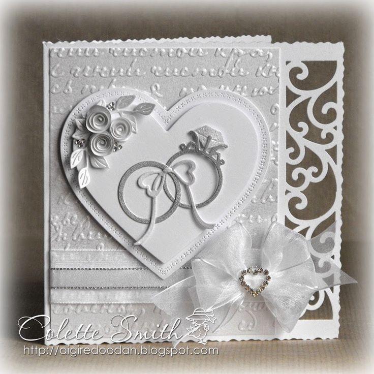 Digi-re-doo-dah:+White+on+White+Wedding+card