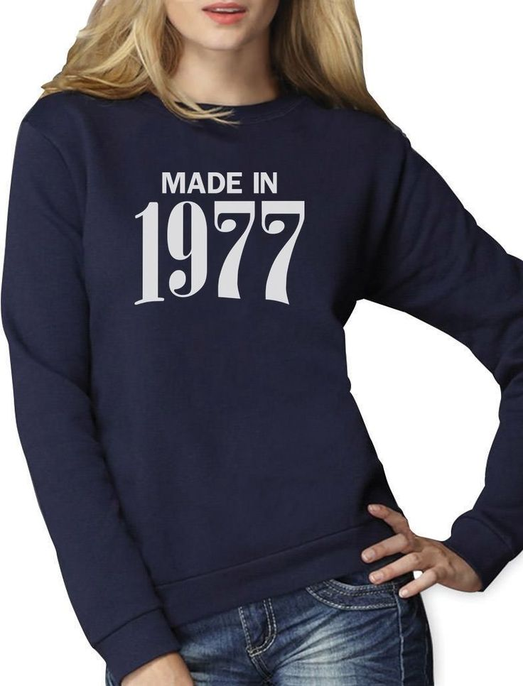 Made In 1977 Retro 40Th Birthday Gift Women Sweatshirt Bday Present