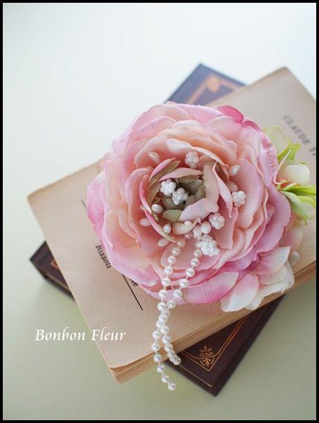 セミオーダー 入園式用コサージュ : Bonbon Fleur ~ Jours heureux コサージュ&和装髪飾り