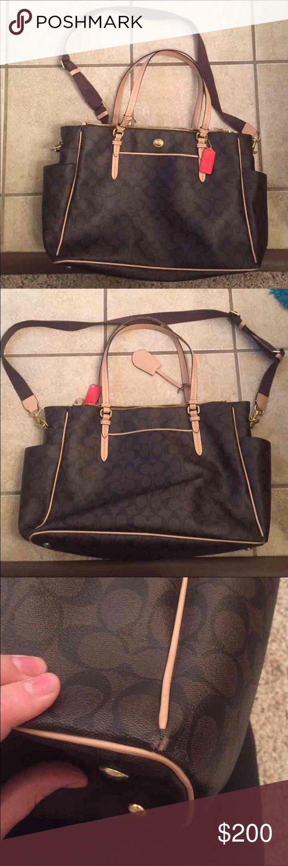 Final price Coach diaper bag Gently used COACH diaper bag. Coach Bags Baby Bags