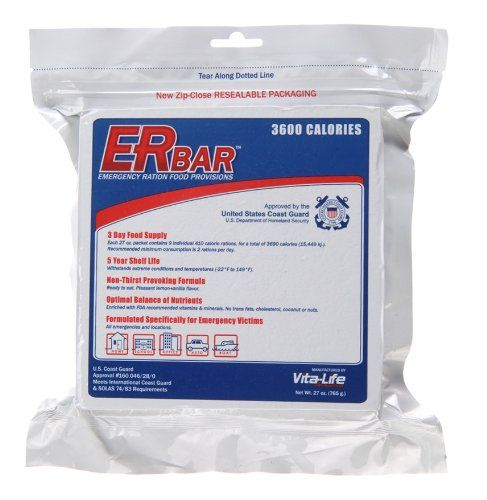ER Emergency Ration 3600 Calorie Emergency Food Bar for Survival Kits and Disaster Preparedness *** You can get additional details at the image link.