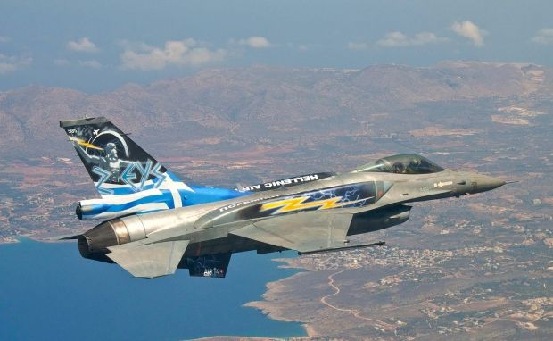 "Greek F-16 Solo Display aircraft ""Zeus"" @ Anthony Baines"