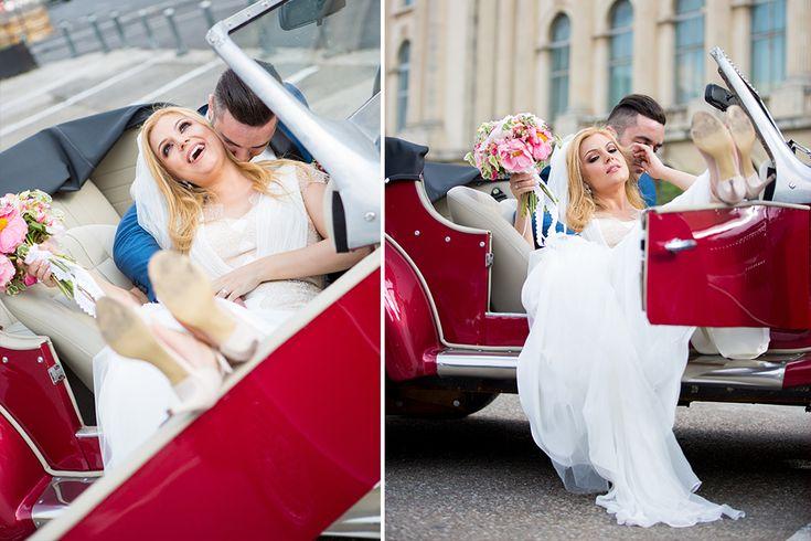 #wedding #brideandgroom #weddingdress #redcar #weddingphotography #romanianphotographer