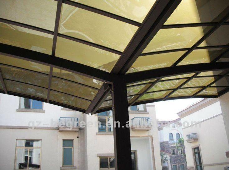 PC Revestido Vela Acabamento e Material Metal Frame de alumínio telheiro canopy