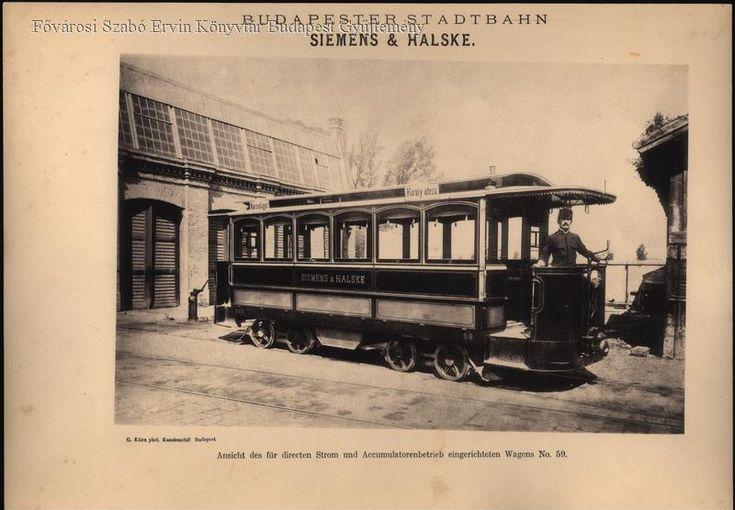 Régi villamoskocsi-külső peronnal - Forrás: bpkep.fszek.hu