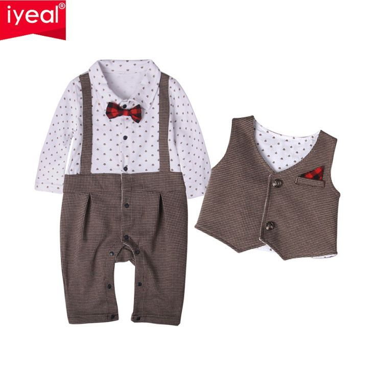 8d13f2bee2979 IYEAL BRAND New Baby Suit Formal Gentleman Boys Clothing Set long ...