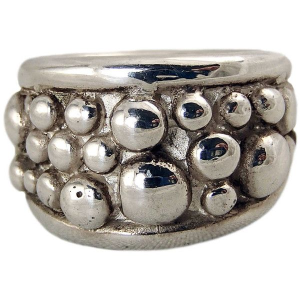 Women's Silver Ring by Charlotte Cornelius Silver Wide Dome Ring (980 BRL) ❤…