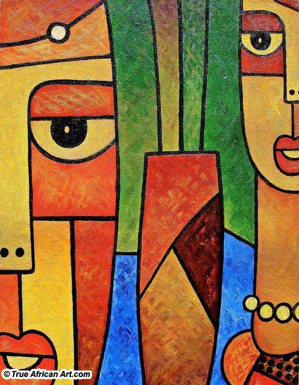 African Paintings Artwork by 60 African Artists - True African Art.com